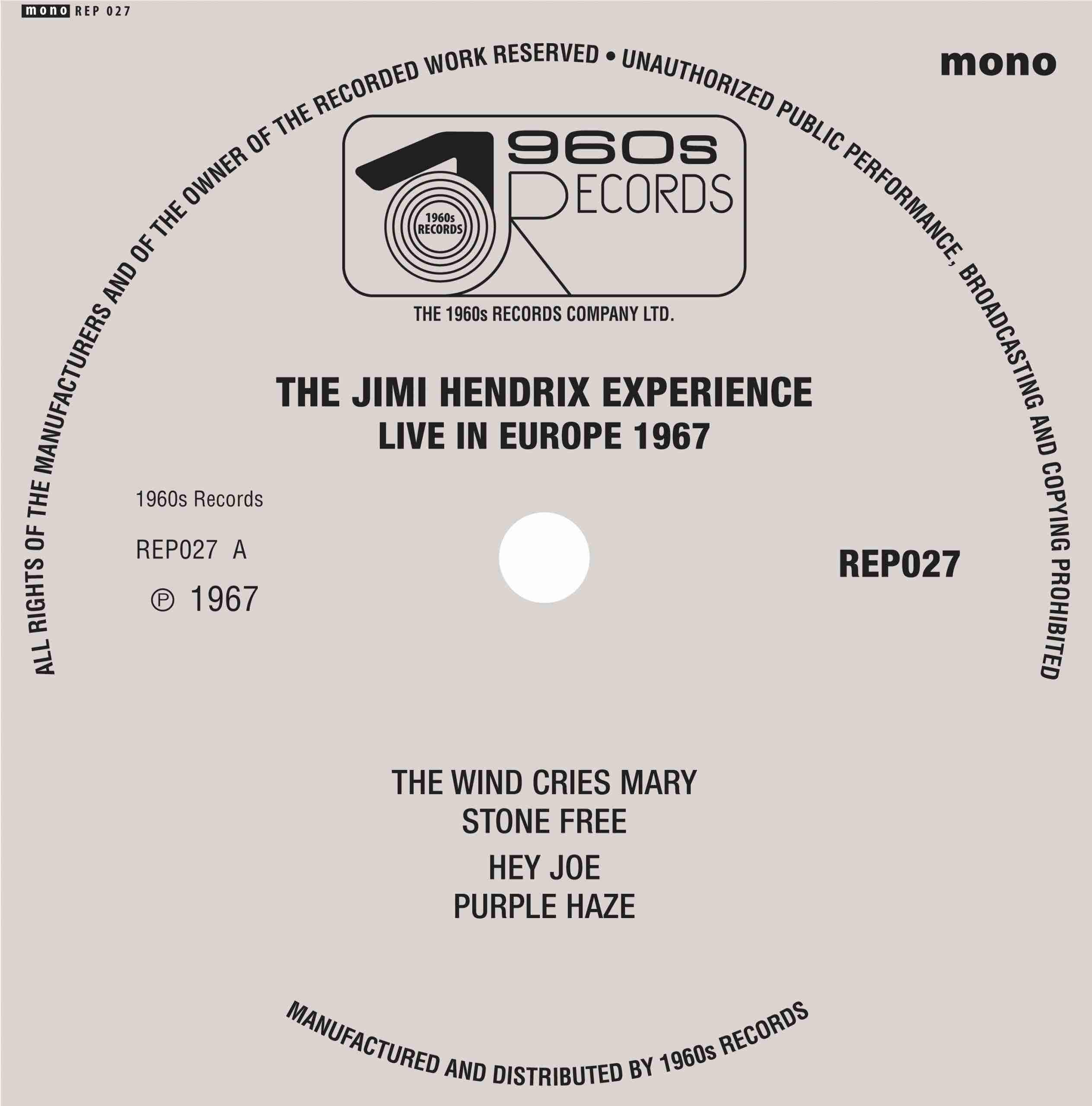 Jimi Hendrix Experience Live Europe EP